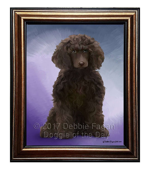 Poodle Dog Framed Canvas Print Wall Art BRFRMCVS53916