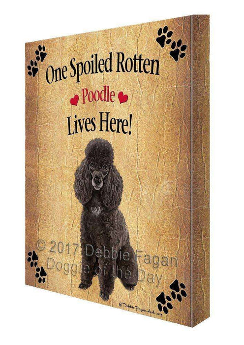 Poodle Spoiled Rotten Dog Canvas Wall Art D550