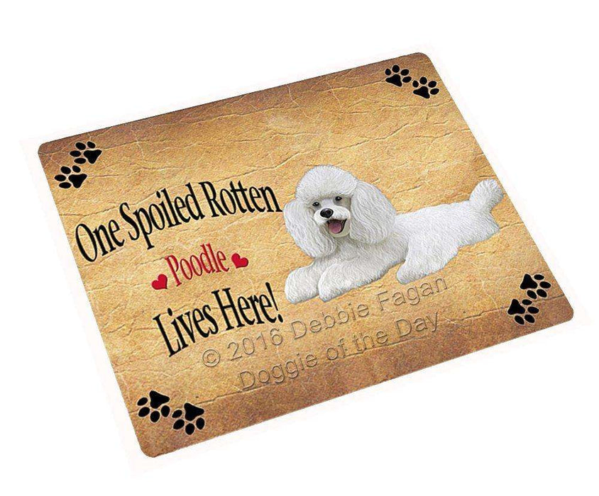 Poodle White Spoiled Rotten Dog Refrigerator Magnet