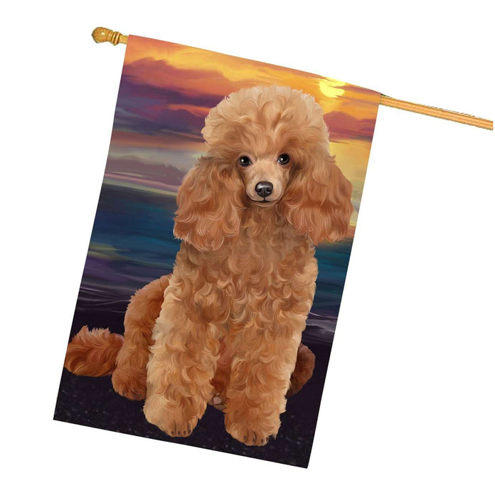 Poodles Dog House Flag
