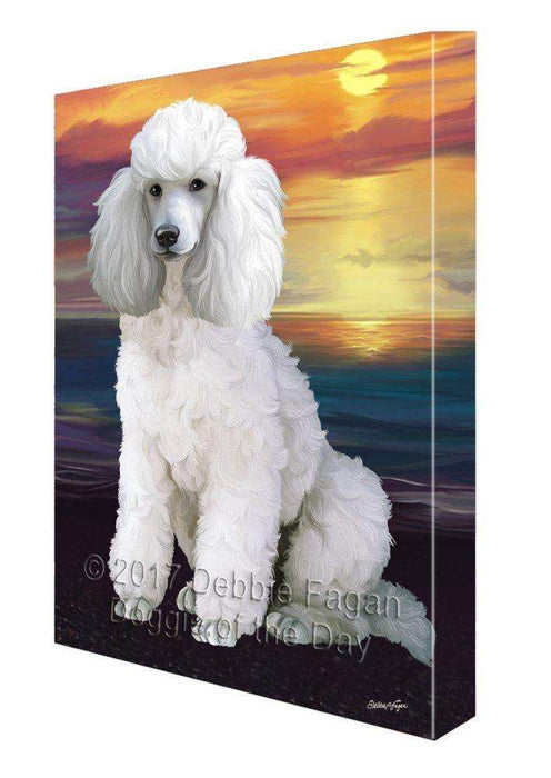 Poodles Dog Painting Printed on Canvas Wall Art Signed