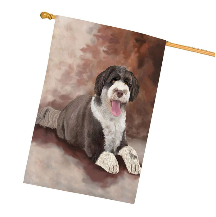 Portuguese Water Dog House Flag