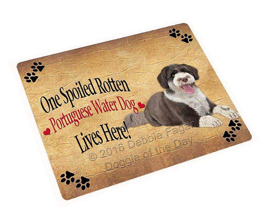 "Portuguese Water Spoiled Rotten Dog Magnet Small (5.5"" x 4.25"")"