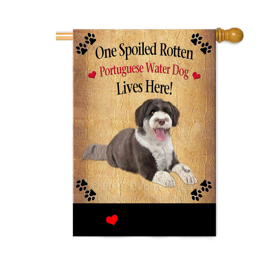 Personalized Spoiled Rotten Portuguese Water Dog Custom House Flag FLG-DOTD-A63297