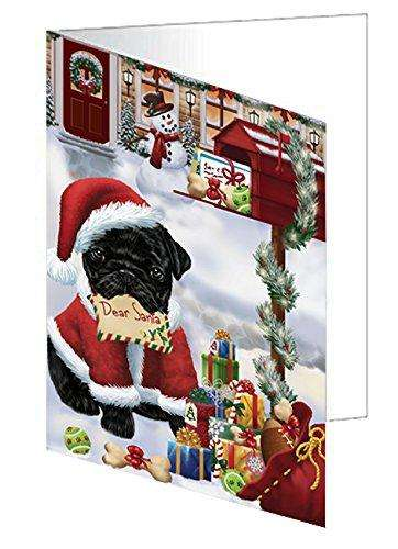 Pug Dear Santa Letter Christmas Holiday Mailbox Dog Note Card