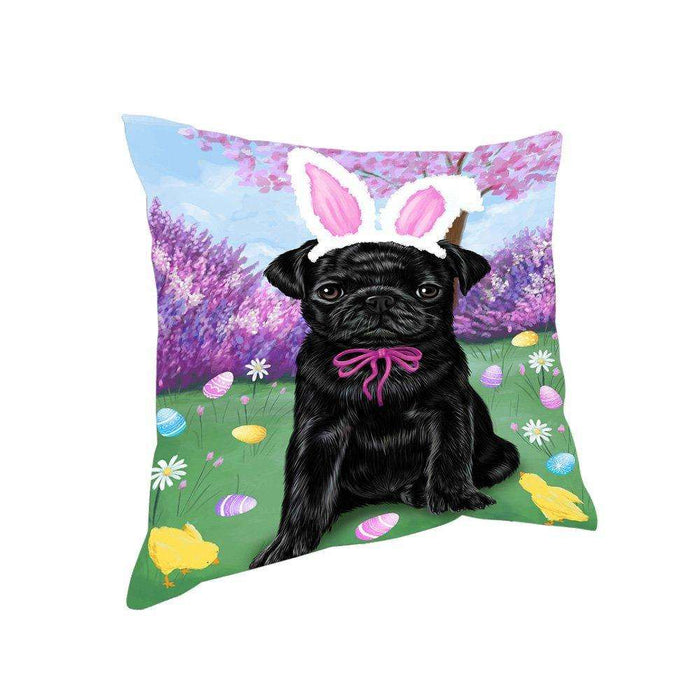 Pug Dog Easter Holiday Pillow PIL53292