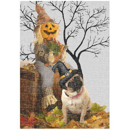 Pug Halloween 252 Pc. Puzzle with Photo Tin