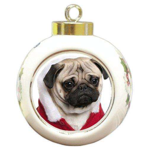 Pug Holiday Christmas Ornament