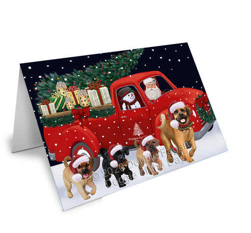 Christmas Express Delivery Red Truck Running Puggle Dogs Greeting Card GCD75203