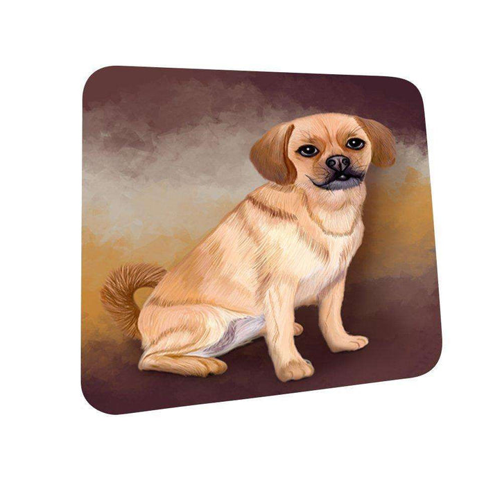 Puggle Dog Coasters Set of 4
