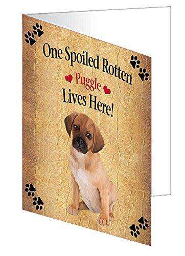 Puggle Puppy Spoiled Rotten Dog Greeting Card