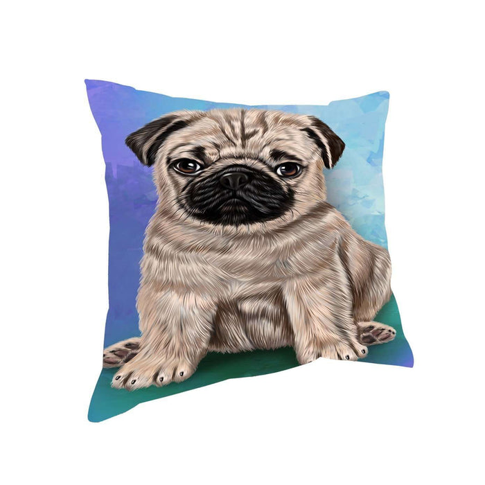 Pugs Puppy Dog Throw Pillow