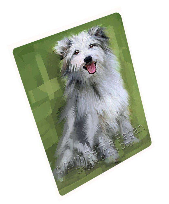 Pyrenean Shepherd Dog Art Portrait Print Woven Throw Sherpa Plush Fleece Blanket D356
