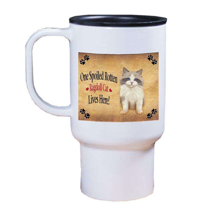 Ragdoll Kitten Spoiled Rotten Cat Travel Mug
