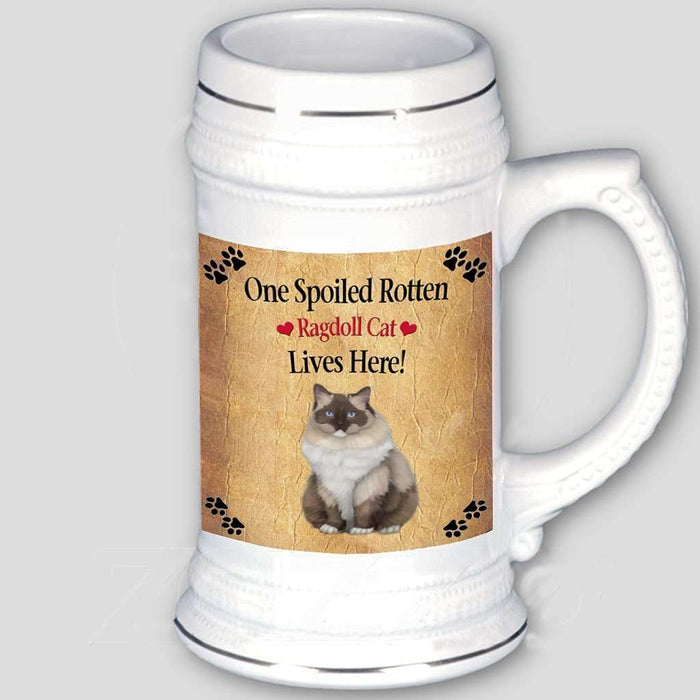 Ragdoll Spoiled Rotten Cat Beer Stein