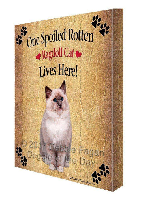Ragdoll Spoiled Rotten Cat Canvas Wall Art D563