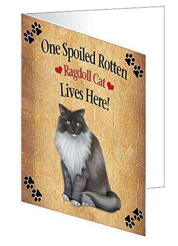 Ragdoll Spoiled Rotten Cat Greeting Card