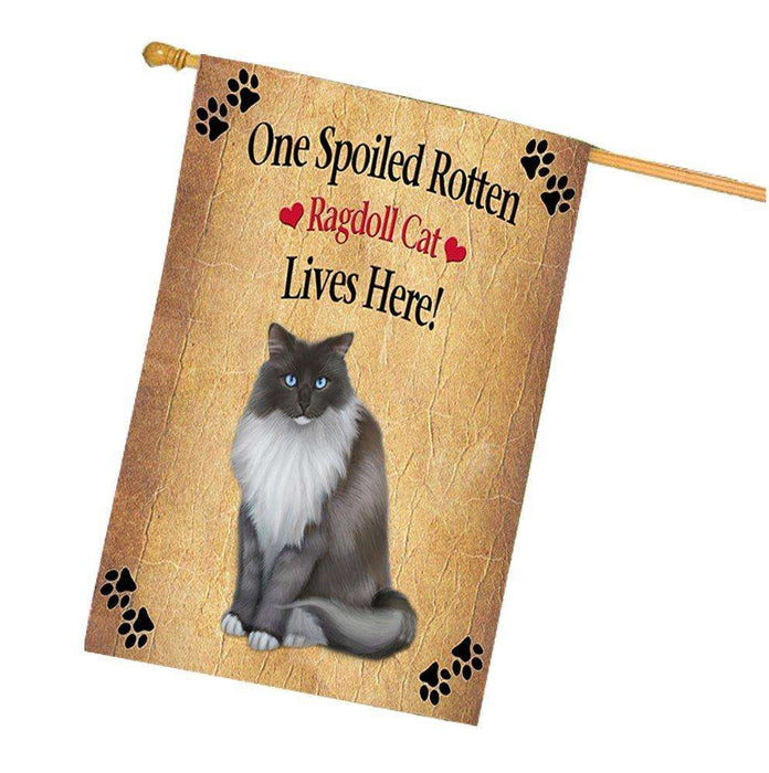 Ragdoll Spoiled Rotten Cat House Flag