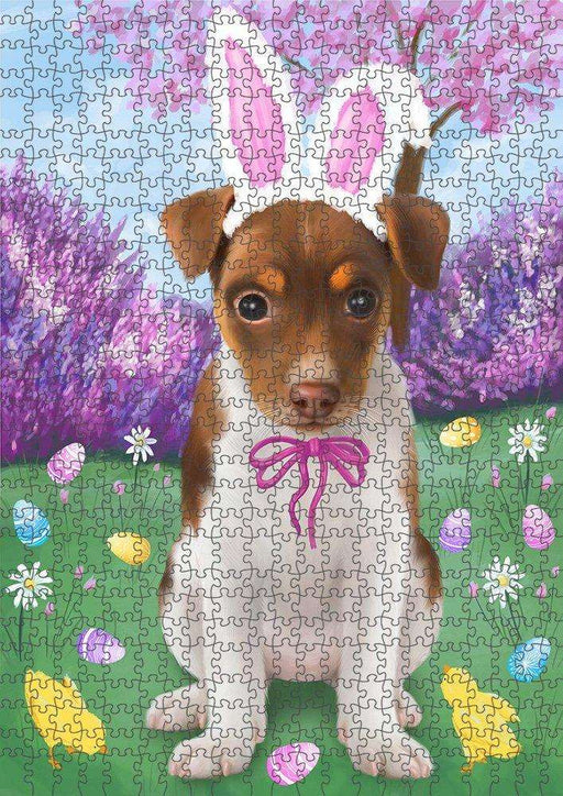 Rat Terrier Dog Easter Holiday Puzzle with Photo Tin PUZL51270