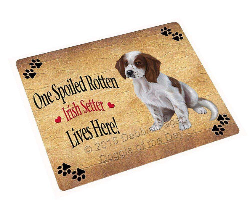 Red And White Irish Setter Puppy Spoiled Rotten Dog Refrigerator Magnet