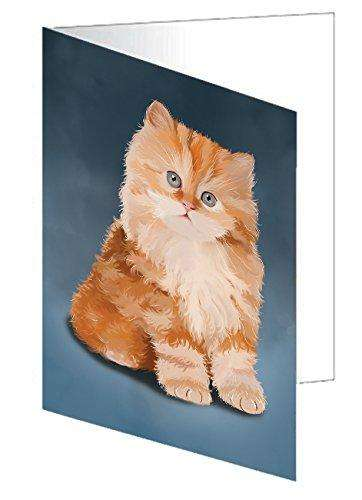 Red Persian Kitten Cat Note Card