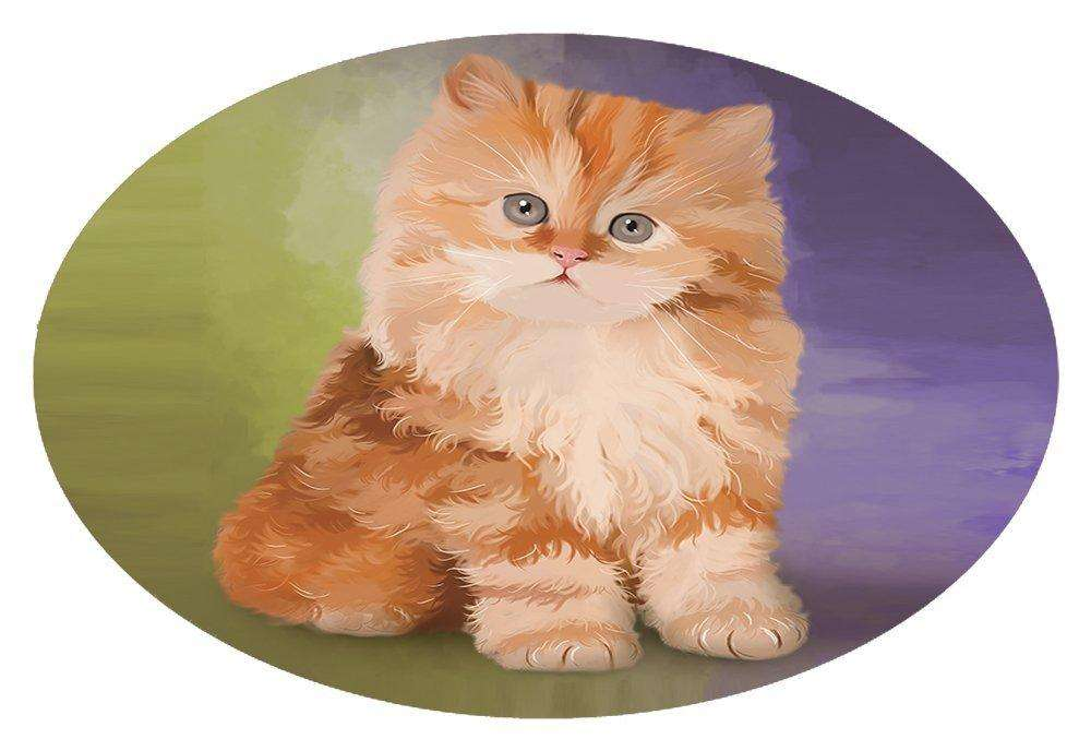Red Persian Kitten Oval Envelope Seals OVE48280