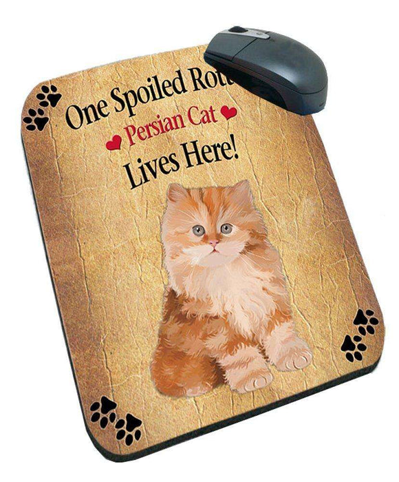 Red Persian Kitten Spoiled Rotten Cat Mousepad