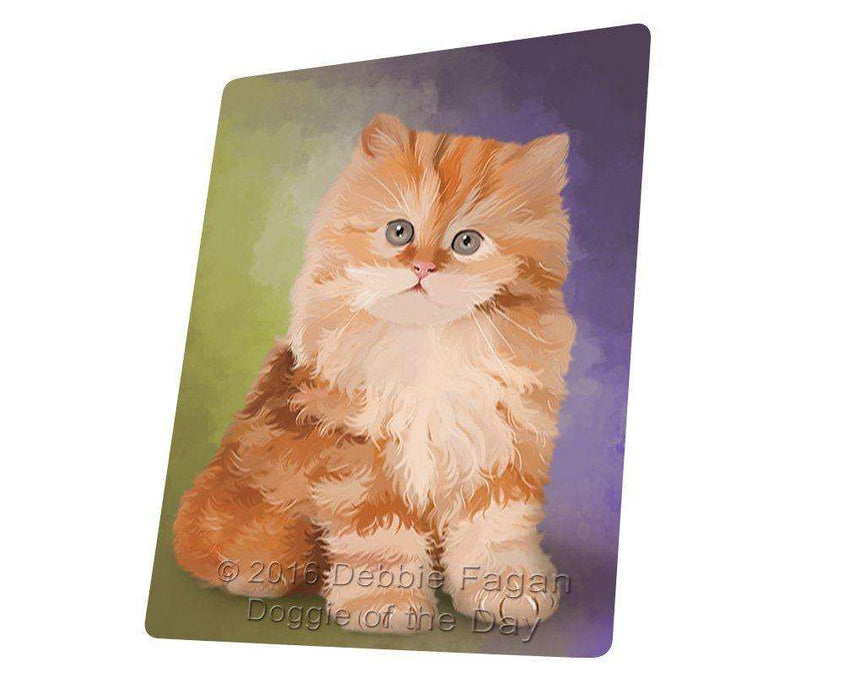 Red Persian Kitten Tempered Cutting Board C48186