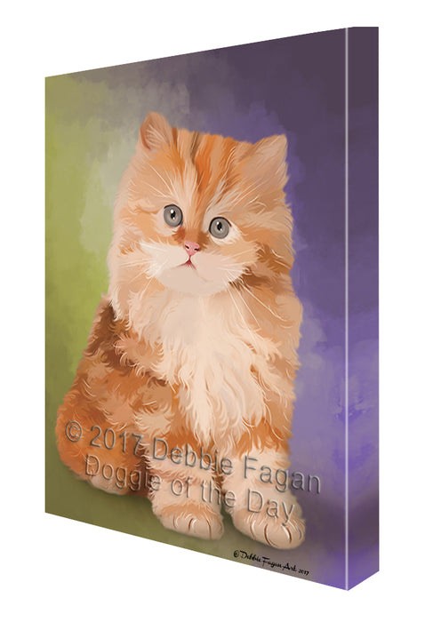 Red Persian Kitten Canvas Wall Art CVS48630