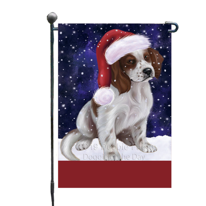 Personalized Let It Snow Happy Holidays Red And White Irish Setter Dog Custom Garden Flags GFLG-DOTD-A62419