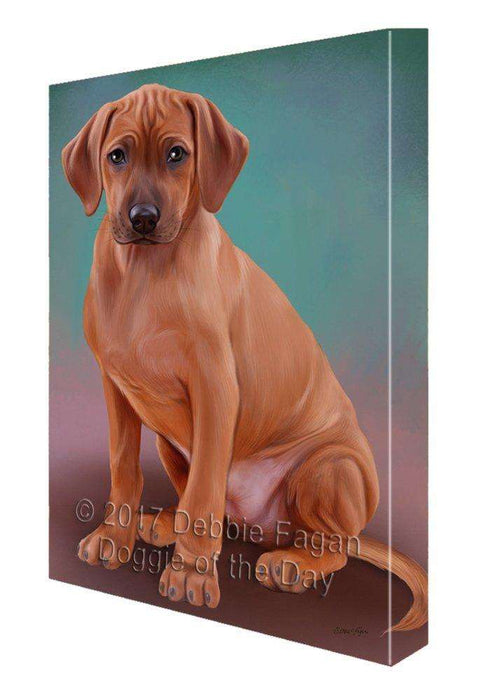 Rhodesian Ridgeback Dog Painting Printed on Canvas Wall Art Signed