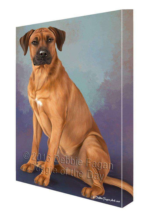 Rhodesian Ridgeback Dog Painting Printed on Canvas Wall Art