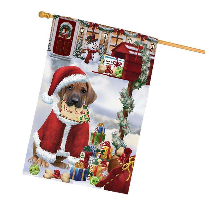 Rhodesian Ridgebacks Dear Santa Letter Christmas Holiday Mailbox Dog House Flag