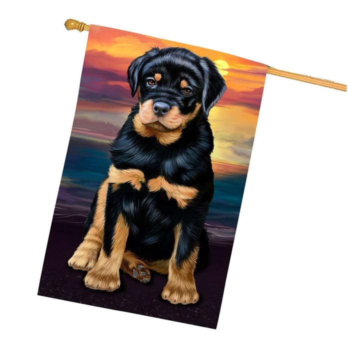 Rottweiler Dog House Flag