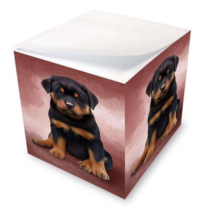 Rottweiler Dog Note Cube