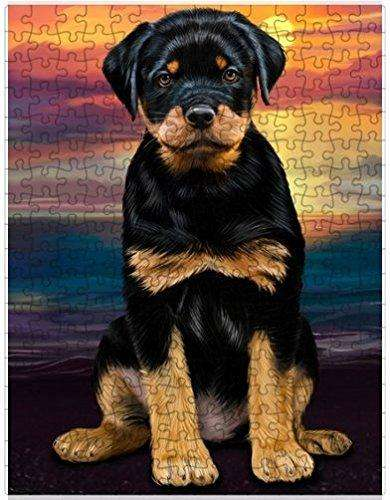 Rottweiler Dog Puzzle with Photo Tin