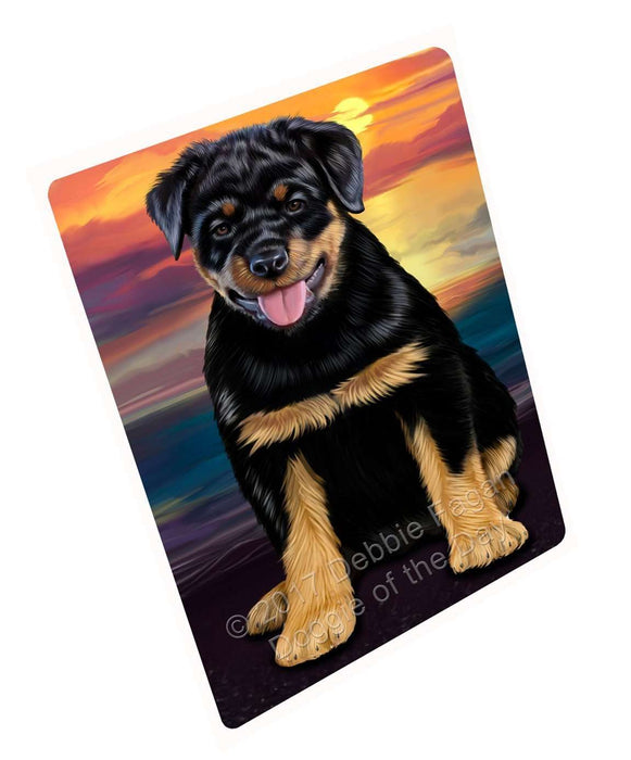 Rottweiler Dog Tempered Cutting Board