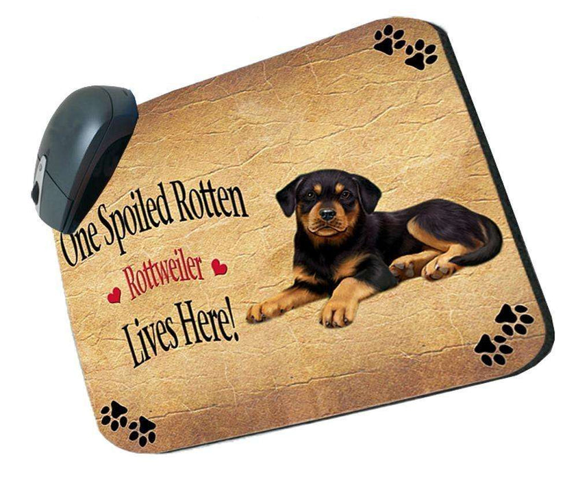 Rottweiler Puppy Spoiled Rotten Dog Mousepad