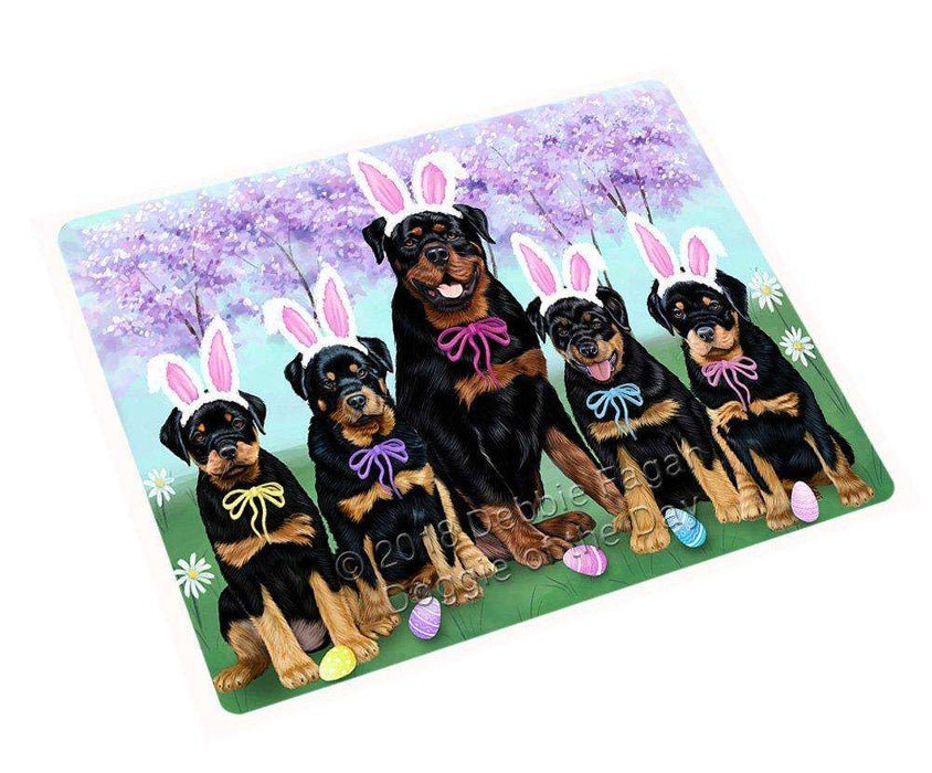 Rottweilers Dog Easter Holiday Tempered Cutting Board C51981