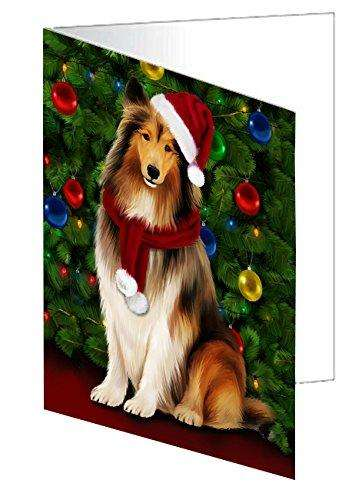 Rough Collie Dog Greeting Card D052