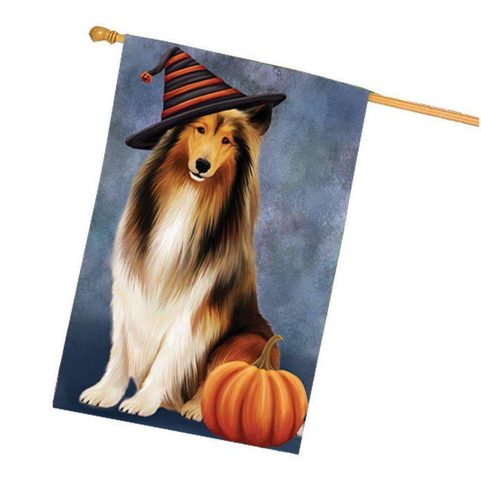 Rough Collie Dog House Flag HF109