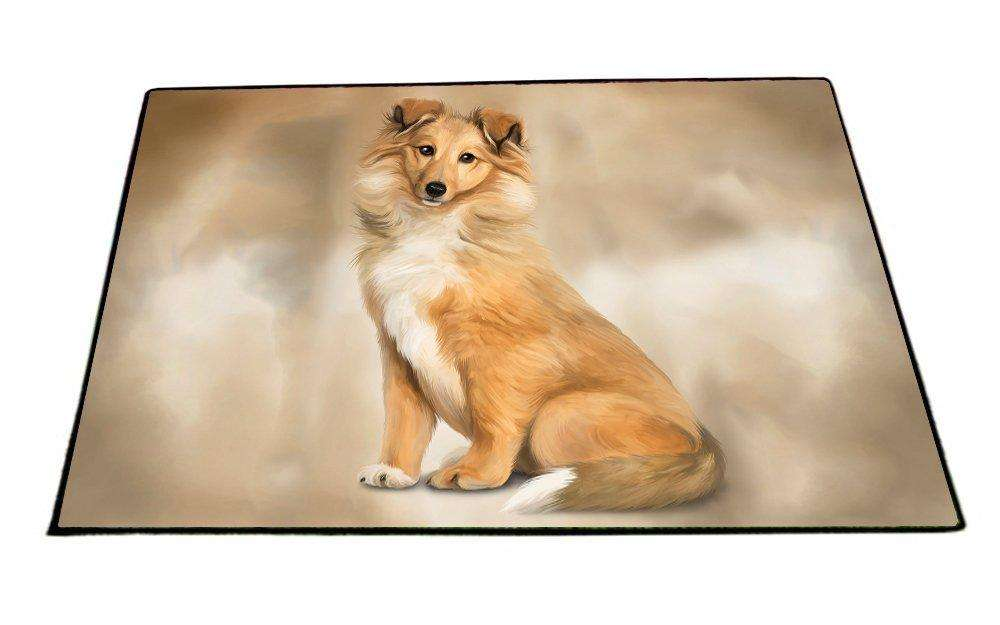 Rough Collie Dog Indoor/Outdoor Floormat D047