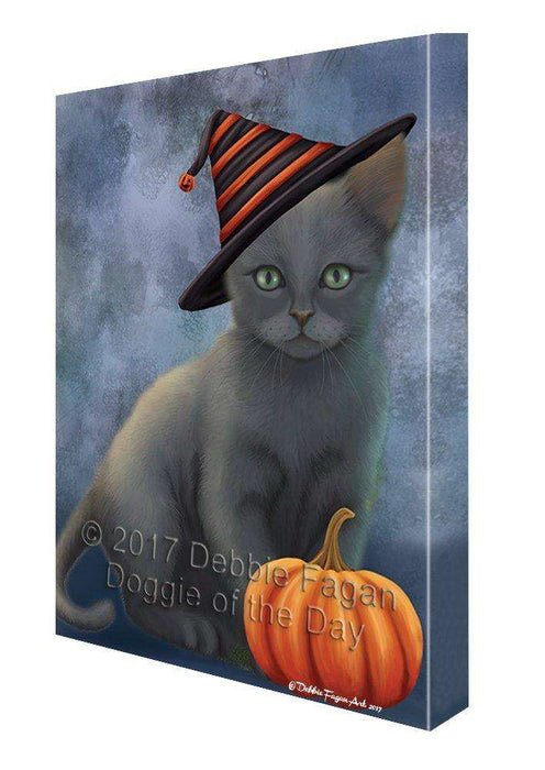 Russian Blue Cat Canvas Wall Art CV296