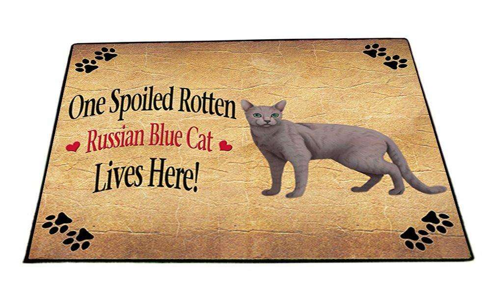 Russian Blue Spoiled Rotten Cat Indoor/Outdoor Floormat