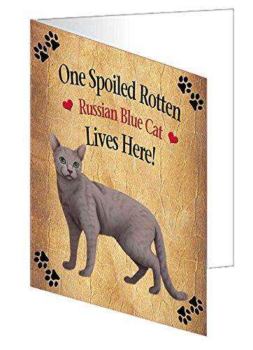 Russian Blue Spoiled Rotten Cat Note Card