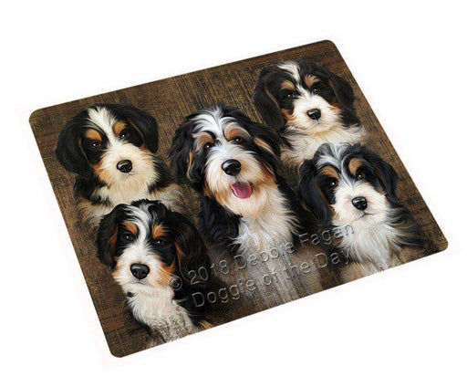 "Rustic 5 Bernedoodles Dog Magnet Small (5.5"" x 4.25"") mag52503"