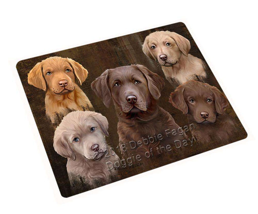 Rustic 5 Chesapeake Bay Retriever Dog Blanket BLNKT104520