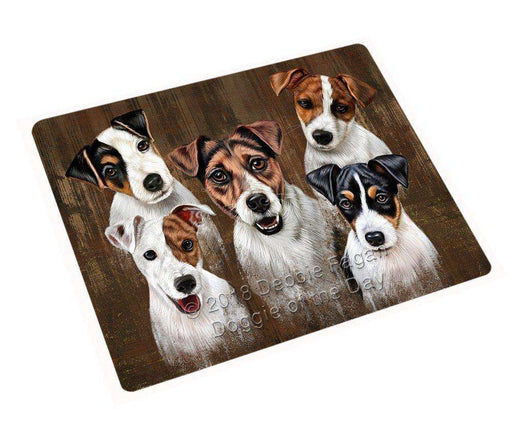 "Rustic 5 Jack Russell Terriers Dog Magnet Mini (3.5"" x 2"") MAG52542"