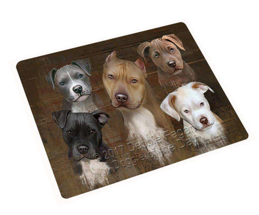 Rustic 5 Pitbulls Dog Blanket BLNKT49692