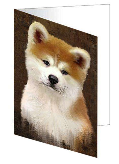 Rustic Akita Dog Greeting Card GCD67229